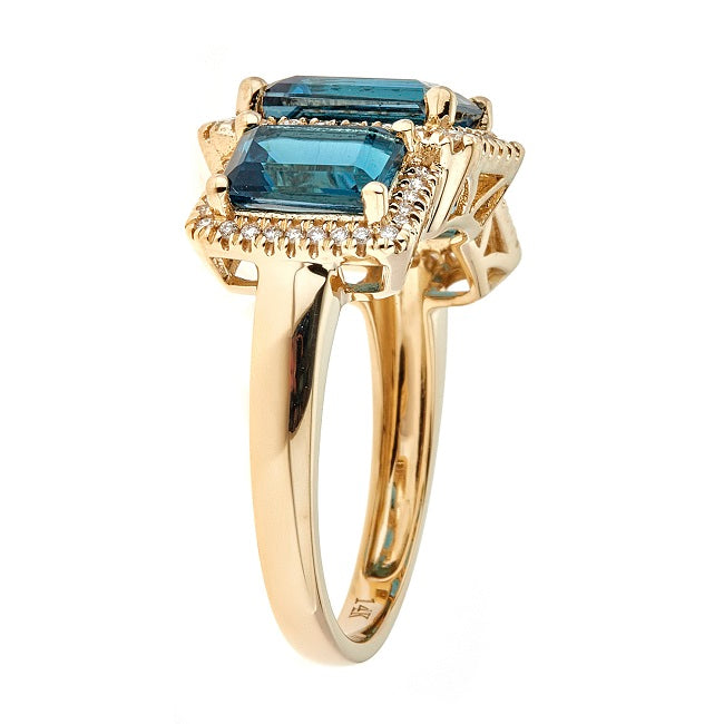 14KY LONDON BLUE TOPAZ RING
