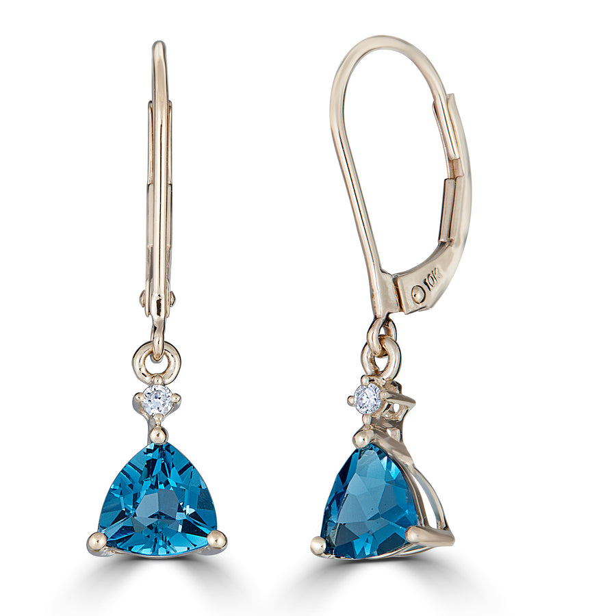 14KY LONDON BLUE TOPAZ EARRING