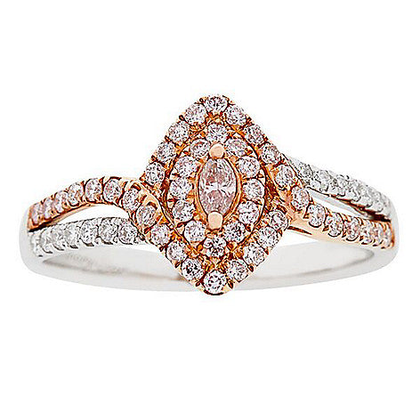 18KTT PINK & WHITE DIAMOND RING