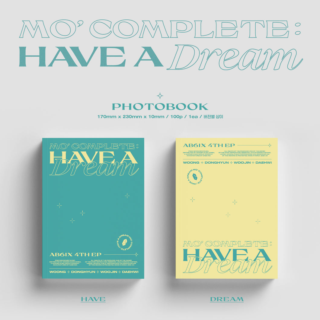AB6IX 'Mo' Complete: Have a Dream' (SEALED)