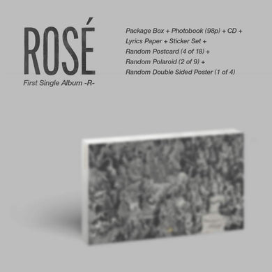 BLACKPINK Rosé - First Single -R- Regular Album