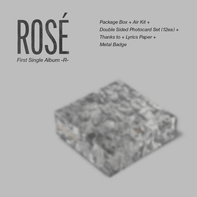 [PREORDER] BLACKPINK Rosé - First Single -R- Kit Album