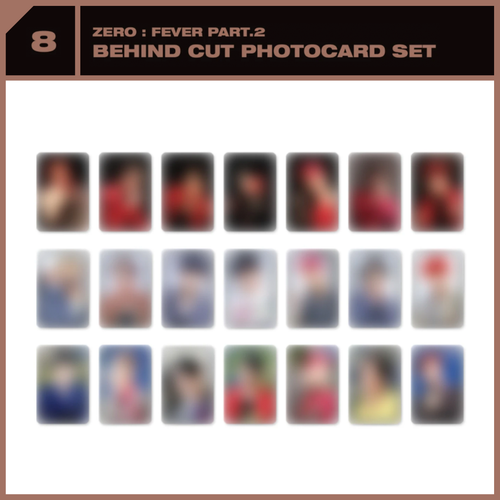 [PREORDER] ATEEZ x SUBK SHOP EXCLUSIVE: OFFICIAL MD - Behind Cut Photocard Set