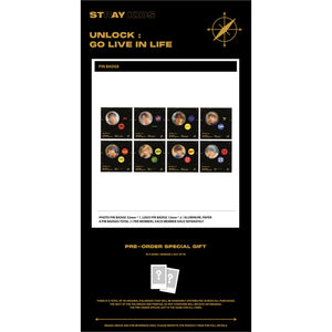 Stray Kids Pin Badge 'UNLOCK : GO LIVE IN LIFE'