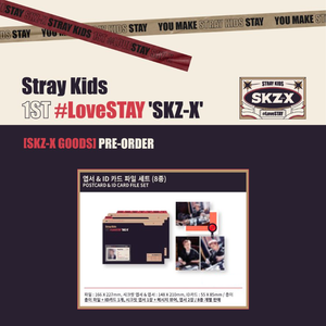 Stray Kids 1st #LoveSTAY SKZ-X Fanmeeting Goods - Postcard & ID Card File Set