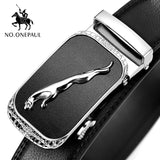 NO.ONEPAUL Luxury brand Man Leather belt Automatic buckle