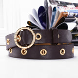 Genuine Leather belt. New Punk Style fashion Pin Buckle jeans Decorative Belt Chain luxury brand belts for women