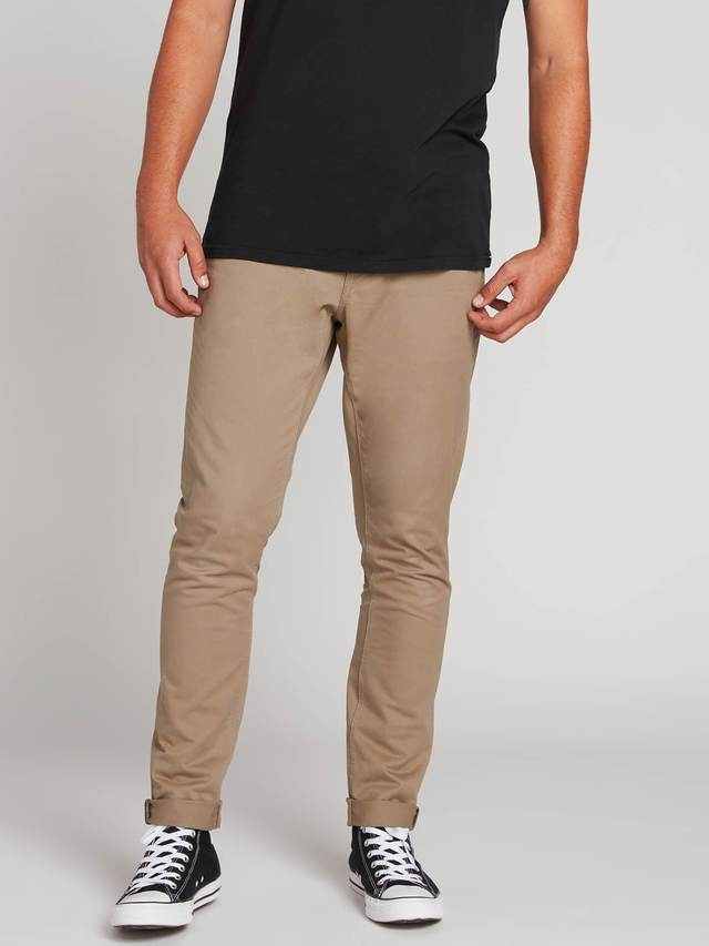 Volcom Vorta Tapered Lite 5 Pocket Pant - Beige
