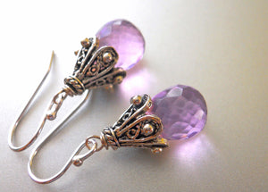 Bright Orchid Empire Earrings, Gold or Silver