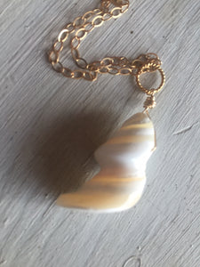 Hawaiian Trochus Mother of Pearl Necklace, metal choices