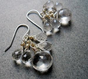 Leverback Icicle Earrings