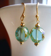 Load image into Gallery viewer, Cool Breeze Czech Glass with Picasso Finish Earrings