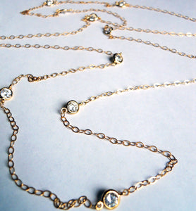 Oscar, Oscar Faux Diamonds by the Yard Necklace inspired by Kimmie and Jennifer Lawrence