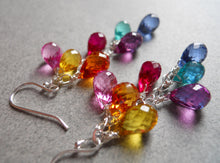 Load image into Gallery viewer, Multi color quartz teardrop earrings -  Goody Goody Gumdrops