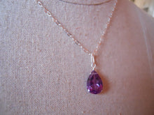 Load image into Gallery viewer, Alexandrite Quartz Color Change Pear Necklace