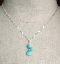 Load image into Gallery viewer, Surfside Amazonite and Sterling Cascade Necklace, Metal options