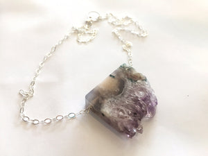 Amethyst Stalactite Slice Necklace,  ONE OF A KIND