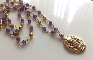 Amethyst Ganesh Necklace