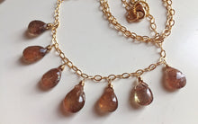 Load image into Gallery viewer, Exotic Andalusite Necklace, gold, RARE OOAK