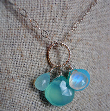Load image into Gallery viewer, Aqua Cluster Necklace