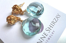 Load image into Gallery viewer, Poolside Aquamarine Quartz Earrings- Post