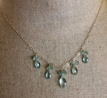 Load image into Gallery viewer, Aquamarine briolette and nugget necklace, limited quantity