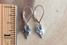 Load image into Gallery viewer, Heart Artisan Earrings, leverback only