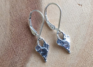 Heart Artisan Earrings, leverback only