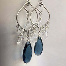 Load image into Gallery viewer, Blue Ice Boho Chandelier Earrings