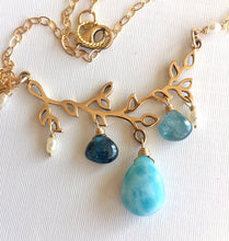 Load image into Gallery viewer, Sea Spray Larimar Necklace, OOAK