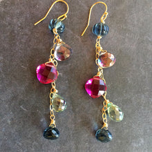 Load image into Gallery viewer, Brand New Day Sparkly Dangle Earrings, 3 metal options