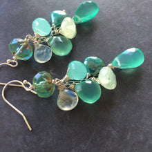 Load image into Gallery viewer, Breath of Fresh Air Cascade Earrings, metal choices