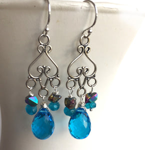 Bright Eyes Chandelier Earrings