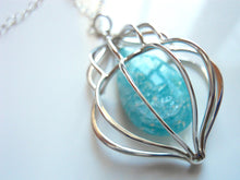 Load image into Gallery viewer, Cage Necklace with Amazonite in Sterling Silver