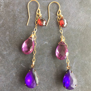 Ultraviolet Candlelit Cafe Dangles, mixed metal, limited quantity