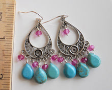 Load image into Gallery viewer, Cha Cha Turquoise Earrings