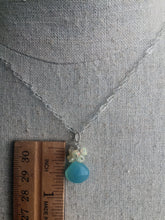 Load image into Gallery viewer, Opal and Chalcedony Cluster Necklace
