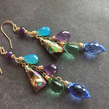 Load image into Gallery viewer, Charmante Dangle Earrings, Turquoise, OOAK