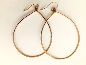 STERLING SILVER Cheri ( ignore gold photos)  Hammered Hoop Earrings, Size LARGE Sterling Silver