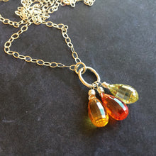 Load image into Gallery viewer, Citrus Trio Step Cut Artisan Pendant Necklace