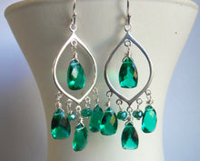 Load image into Gallery viewer, SET, SPECIAL PRICING, Cleo Goddess Chandeliers and Necklace- Sterling