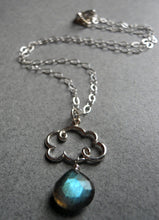 Load image into Gallery viewer, Cloud Charm Necklace with Labradorite