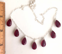 Load image into Gallery viewer, Contessa necklace- Deep Red, 7 stone