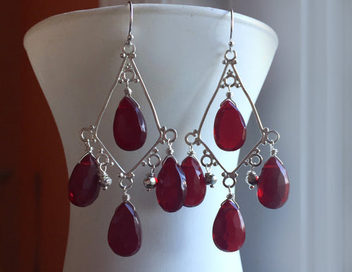 Contessa Chandeliers - Deep Red, oxidized version only - not shown