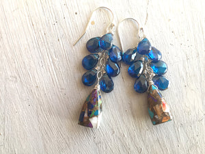 Cozumel Dangle Earrings OOAK restocked