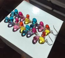 Load image into Gallery viewer, CUSTOM  Special Order - Double length rainbow earrings -  Goody Goody Gumdrops