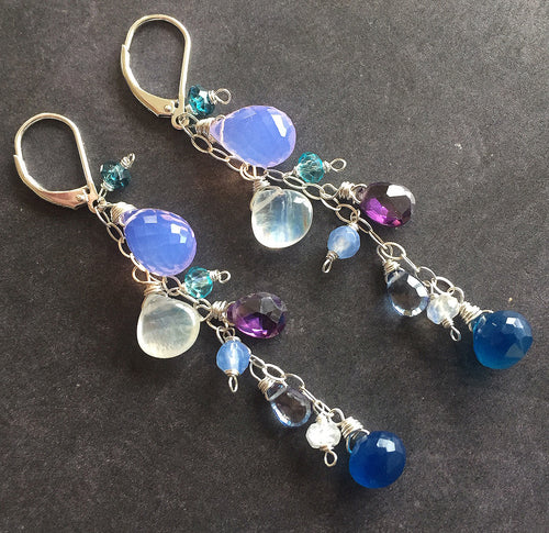Dream Cascade Earrings, limited quantity, metal choices