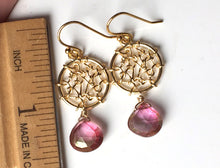 Load image into Gallery viewer, Dreamcatcher Earrings in Posy Mystic Quartz