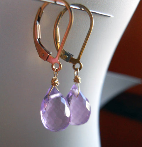 Drop of Radiant Orchid Teardrop Earrings