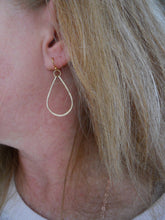 Load image into Gallery viewer, Kristiana Hammered Hoop Earrings in 14K Gold Filled, OR 14k Rose Gold Filled, Size: Small